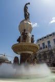 SKOPJE, REPUBLIEK VAN MACEDONIË - 13 MEI 2017: Philip II van Macedon-Monument in Skopje Royalty-vrije Stock Afbeeldingen