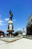 SKOPJE, REPUBLIEK VAN MACEDONIË - 13 MEI 2017: Philip II van Macedon-Monument in Skopje Royalty-vrije Stock Foto