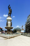 SKOPJE, REPUBLIEK VAN MACEDONIË - 13 MEI 2017: Philip II van Macedon-Monument in Skopje Stock Afbeelding