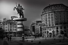 Skopje - Republik von Mazedonien lizenzfreie stockfotografie