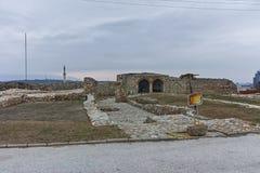 SKOPJE, republika MACEDONIA, LUTY - 24, 2018: Skopje Kale forteczny forteca w Starym miasteczku Fotografia Royalty Free