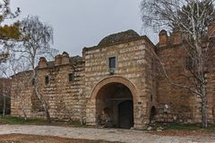 SKOPJE, republika MACEDONIA, LUTY - 24, 2018: Ruiny w starym miasteczku miasto Skopje Kurshumli Obraz Stock