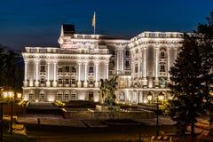 Skopje-Staats-Kapitol lizenzfreies stockfoto