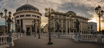 Skopje, Staatsanwalt ` s Büro der Republiks Mazedonien stockfotos