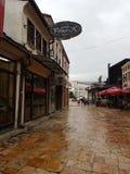 Skopje-Stadtansicht lizenzfreie stockfotografie
