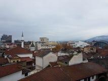 Skopje-Stadtansicht lizenzfreie stockbilder
