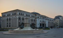 Skopje - stolica republika Macedonia Zdjęcia Stock