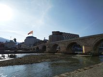 Skopje Stone Bridge royalty free stock images