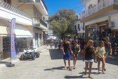 Skopleos市村庄视图 免版税库存图片