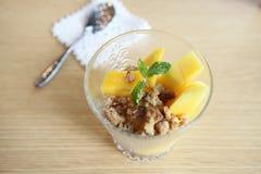 Skopor av mangoglassfrukt arkivfoton