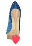 Skor är på den symboliska hjärtan Royaltyfri Fotografi