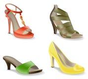 skor vektor illustrationer