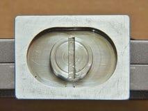 Skor eller plattor för snabb frigörare för tripoder från aluminium Arkivfoto