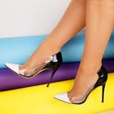 Skor för häl för kvinna` s Royaltyfria Bilder