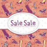 skor för kortrabattförsäljning Royaltyfria Bilder