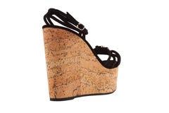 Skor Skor för kvinna` s på en vit bakgrund högvärdigt skodon Italienare brännmärkte skor Arkivfoto