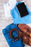 Skor för livsstil för kläder för man` s sänker lekmanna- Fotografering för Bildbyråer