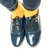 Skor för skola för Ð-¡ hild Royaltyfri Bild