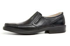 skor för svart man s Arkivfoto