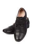 skor för svart man s Arkivbild