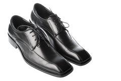 skor för svart man s Royaltyfria Bilder