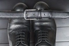 skor för svart man s Royaltyfri Foto