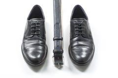 skor för svart man s Royaltyfri Bild