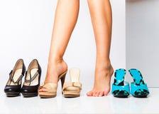 skor för modekvinnligben Royaltyfri Bild