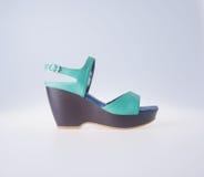 Skor isolerad skokvinna Skor isolerad skokvinna Arkivbilder