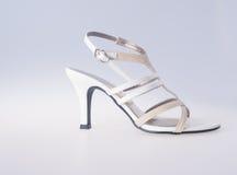 Skor isolerad skokvinna Skor isolerad skokvinna Arkivfoto
