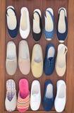 Skor skor, massor av skor Royaltyfri Bild