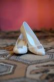 Skor med kristaller Fotografering för Bildbyråer