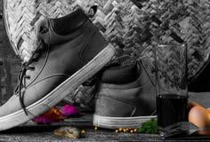 Skor med stil Fotografering för Bildbyråer