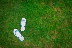 Skor på gräs Royaltyfri Fotografi