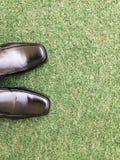 Skor på gräsplanen Royaltyfri Fotografi
