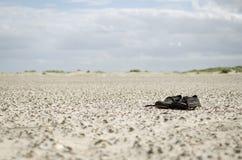 Skor på kusten Arkivfoton