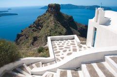 Skora in Imerovigli, Santorini Royalty-vrije Stock Afbeelding