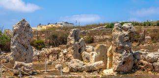 Skorba-Tempel bleibt Stockbild
