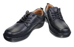 Skorna för svart man` s Royaltyfri Foto
