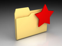skoroszytowa ikona Obraz Stock