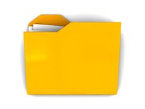 skoroszytowa ikona Zdjęcie Stock
