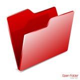 skoroszytowa ikona odizolowywający otwarty wektor Zdjęcia Stock