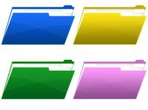 skoroszytowe ikony Zdjęcie Stock
