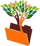 Skoroszytowy drzewny para logo royalty ilustracja