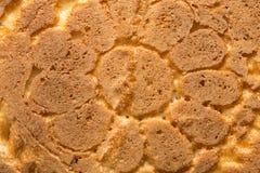Skorpa av bröd som bakgrund Makro Arkivbilder