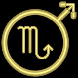 skorpion 002 zodiak ilustracji