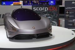Skorpion Abarth Konzept - Genf 2011 stockfotos