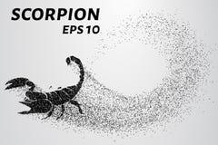 Skorpion cząsteczki Skorpion składać się z mali okręgi również zwrócić corel ilustracji wektora Obraz Stock