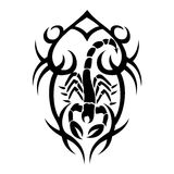 Skorpion tatoo Lizenzfreies Stockbild