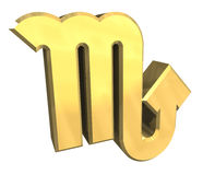 Skorpionastrologiesymbol im Gold (3d) Stockfotos